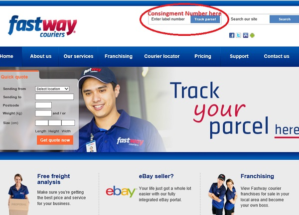 How to track parcel fastway