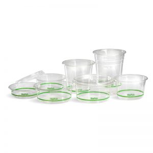 Bio Clear BioPlastic Bowls and Lids