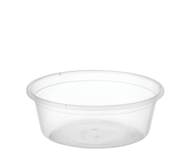 castaway 8oz round plastic takeaway container