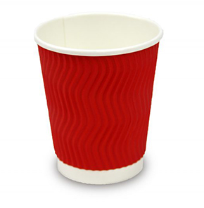 12oz Red Triple Wall Coffee Cup