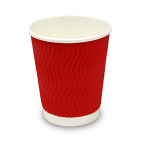 8oz Red Triple Wall Coffee Cup