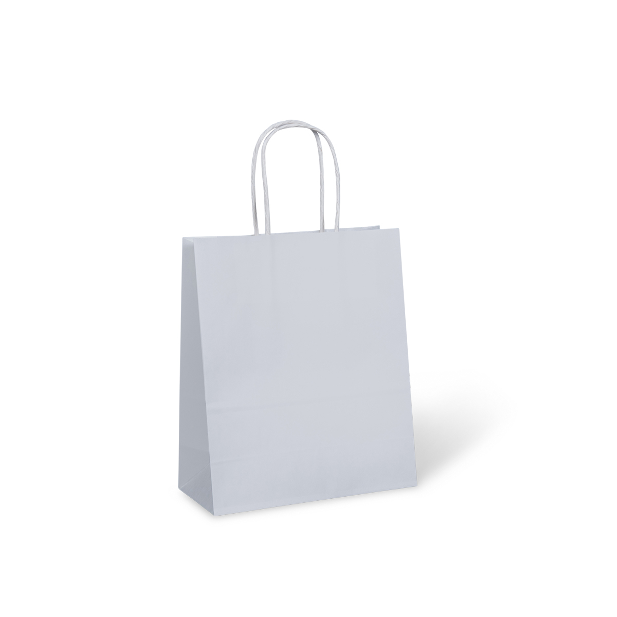 8 Extra Small Petite Paper Twist Handle Bag White 210mm X